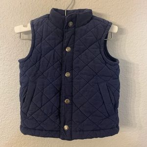 Janie and Jack Quilted Navy Vest